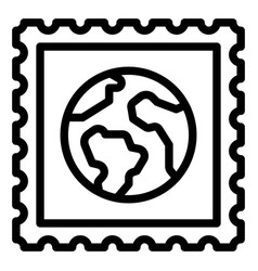 earth postage stamp icon day related vector image