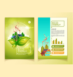 eco energy brochure template vector image