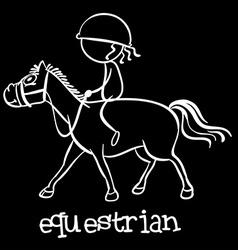 Equestrian vector