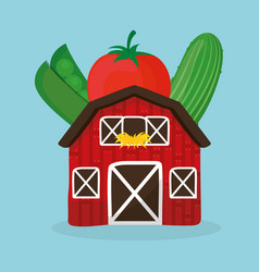 Farm fresh vegetables health image vector