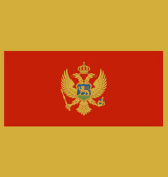 flag of montenegro in official rate and colors vector image