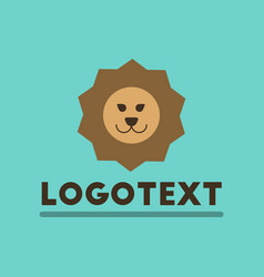 Flat icon on background lion logo vector