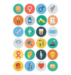 Flat Medical and Health Icons 2 vector image
