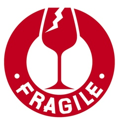 Fragile stamp - Fragile symbol vector