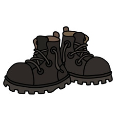 Funny black boots vector image