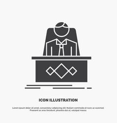 Game boss legend master ceo icon glyph gray vector