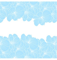 Geranium flowers background with copyspace vector