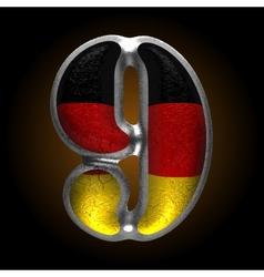 Germany metal figure 9 vector