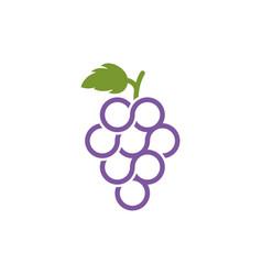 Grapes icon design vector