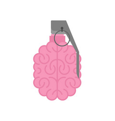 Grenade brain isolated brains military ammunition vector