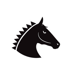horse head icon design template isolated vector image