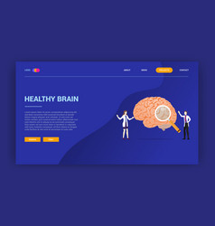 human brain health doctor treatment concept for vector image