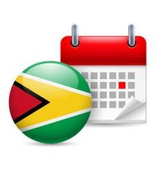 Icon of National Day in Guyana vector image