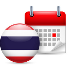 Icon of national day in thailand vector image