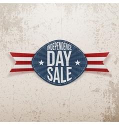 Independence Day Sale scratched Emblem vector image