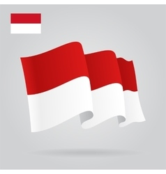 Indonesian waving Flag vector