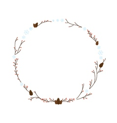 January Wreath vector