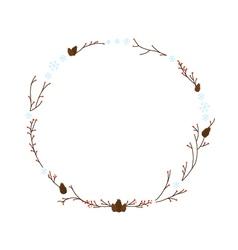 January wreath vector