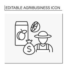 Juice production line icon vector