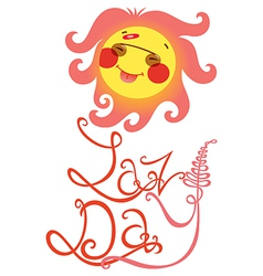 lazy day vector image