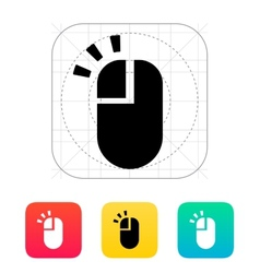 Left click mouse icon vector
