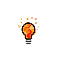 lightbulb icon creative idea logo design concept vector image