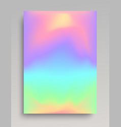 Liquid iridescent gradient background vector