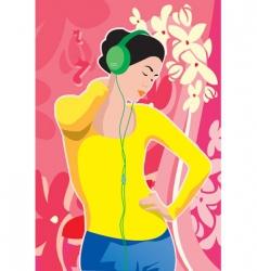 Listen to music vector