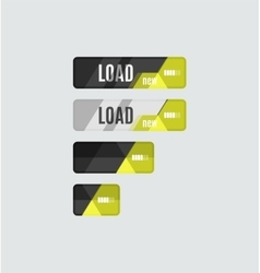 Load button futuristic hi-tech UI design vector image