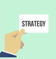 man showing paper strategy text vector image