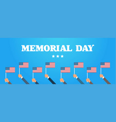 memorial day usa greeting card wallpaper hands vector image