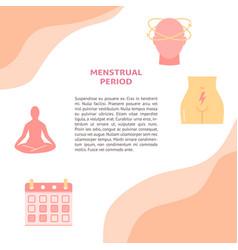 Menstruation period concept banner template in vector