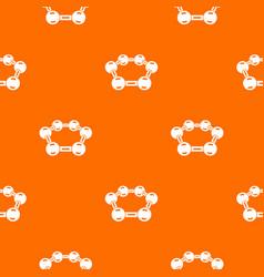 molecule medical pattern orange vector image