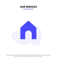 Our services home instagram interface solid glyph vector