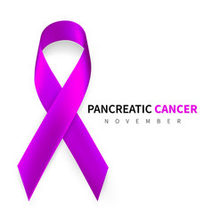 pancreatic cancer awareness month realistic vector image