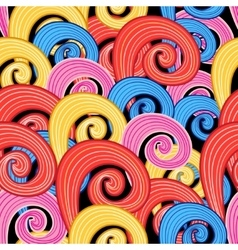 Pattern multicolored swirls vector