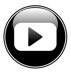 play button on white vector image