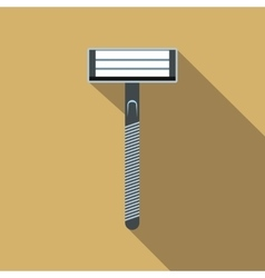 Razor flat icon with shadow vector image