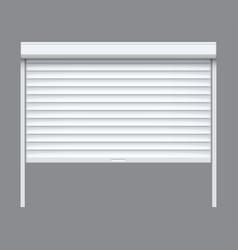 rolling shutter door roller garage metal gate vector image