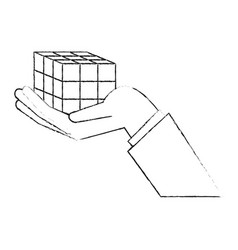 rubik cube puzzle vector image