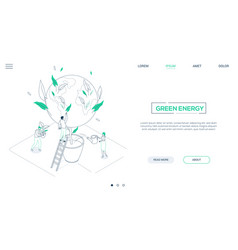 save planet - line design style isometric web vector image
