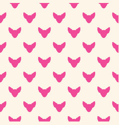 Seamless pattern with chihuahua vector