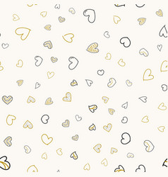 seamless pattern with colorful heart vector image