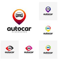 Set of car point logo template designs auto car vector