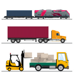 shipping and freight of goods vector image