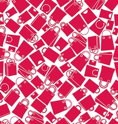 Shopping bags seamless background monochrome vector image