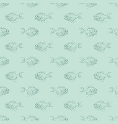 Simple pattern with underwater predator fish vector