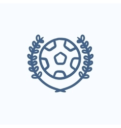 Soccer badge sketch icon vector image