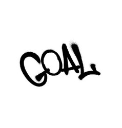 Sprayed goal font graffiti with overspray in black vector