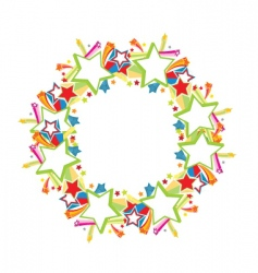 Stars and sparkle frame vector